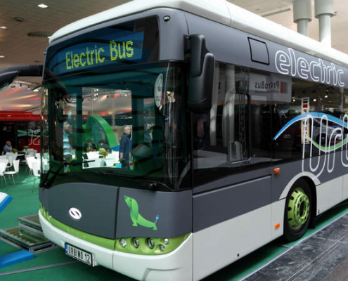 Electric Bus in Hanover, Germany