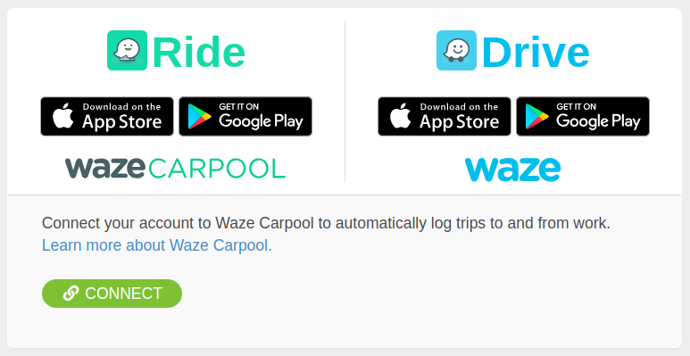 Waze - Connected Apps Page