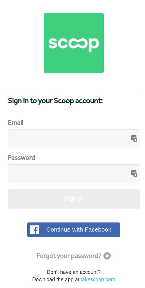 Scoop Sign-In